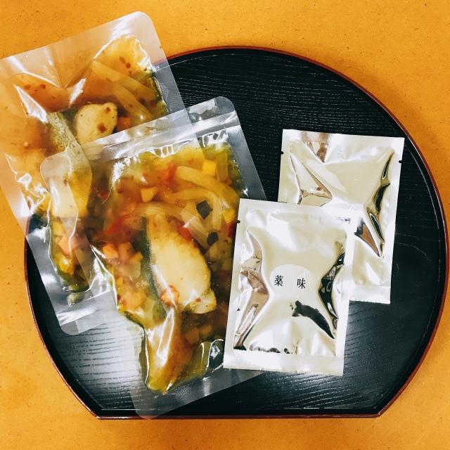 ぶりと野菜の生茶漬け 南蛮パッケージ