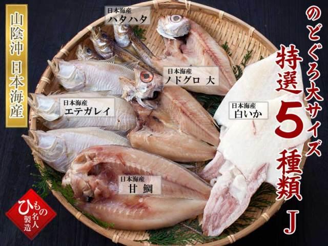 干物(ひもの)詰合 干物5種(のどぐろ大入り)詰合せ-J【送料無料】※北海道・沖縄・東北は送料520円をお願いします。