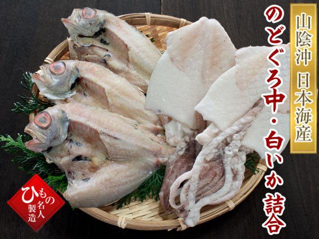干物(ひもの)詰合 2種(のどぐろ中、白いか)詰合-B 【送料無料】北海道・東北・沖縄は送料520円をお願いします。