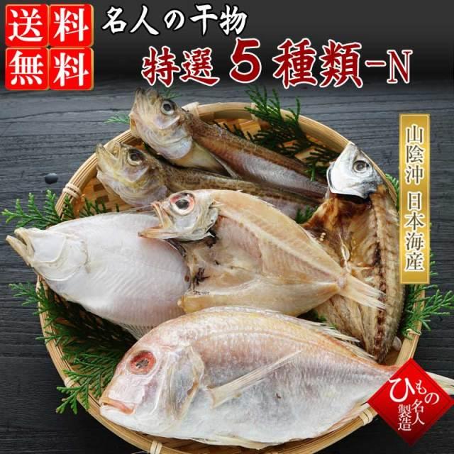 干物(ひもの)詰合 名人の干物5種詰め合わせ-N 【送料無料】北海道・東北・沖縄は送料520円をお願いします。