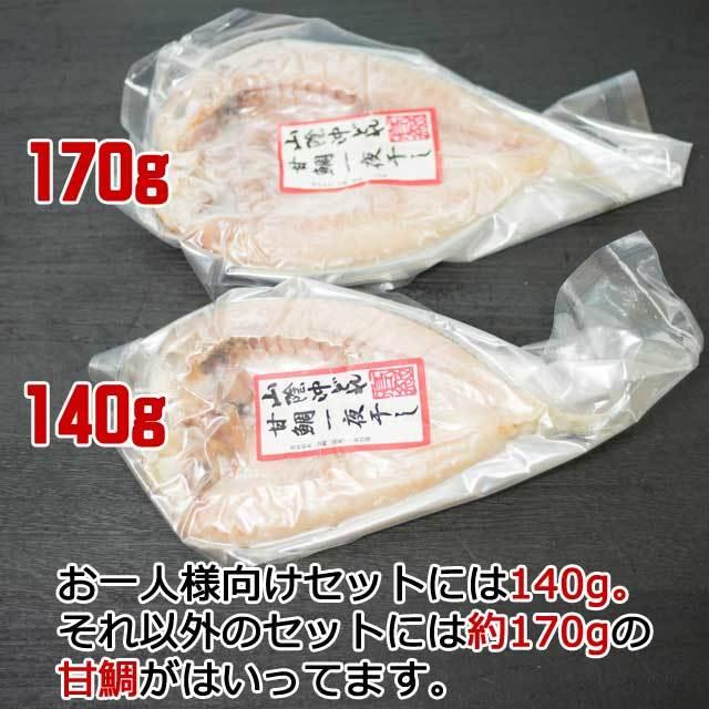 甘鯛の大きさ 140gと170g