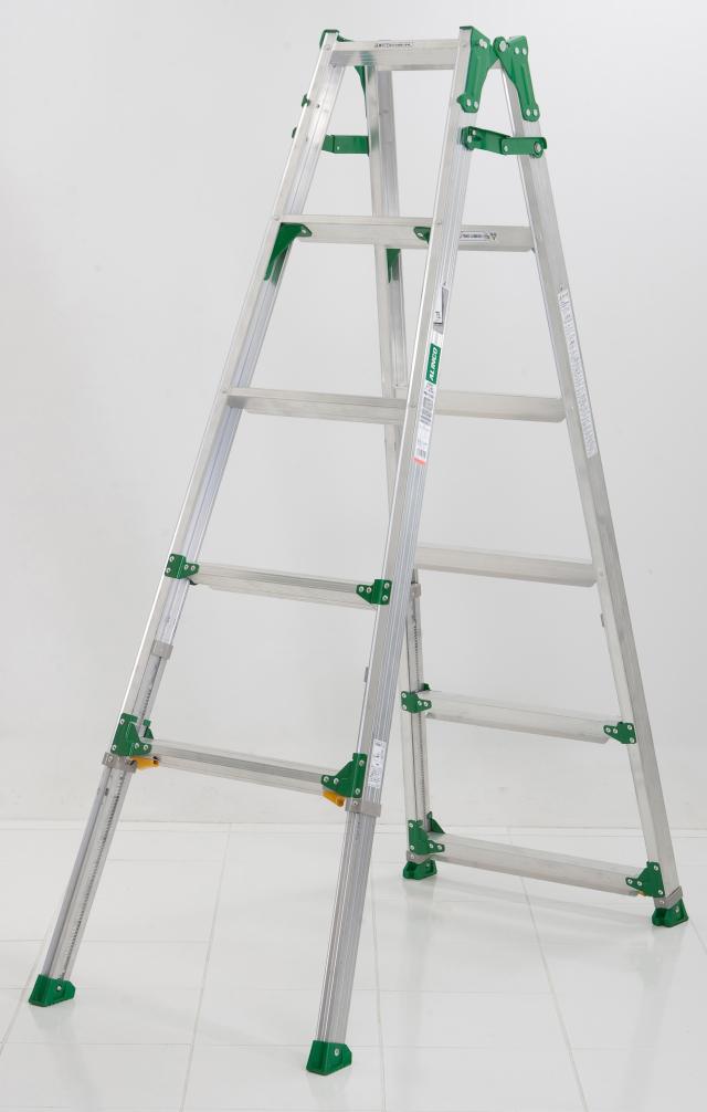 伸縮足付はしご兼用脚立PRH1518FX