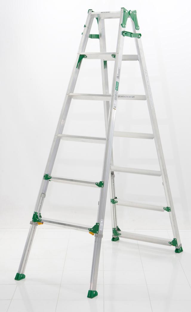 伸縮足付はしご兼用脚立PRH1821FX