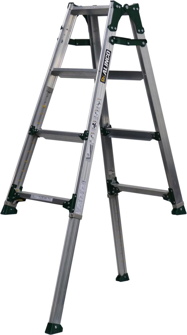 アルインコ(ALINCO)  伸縮脚付はしご兼用脚立 PRT-120FX (伸縮脚441mmタイプ)