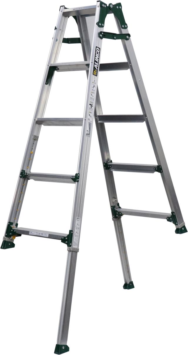 アルインコ(ALINCO)  伸縮脚付はしご兼用脚立 PRT-150FX (伸縮脚441mmタイプ)