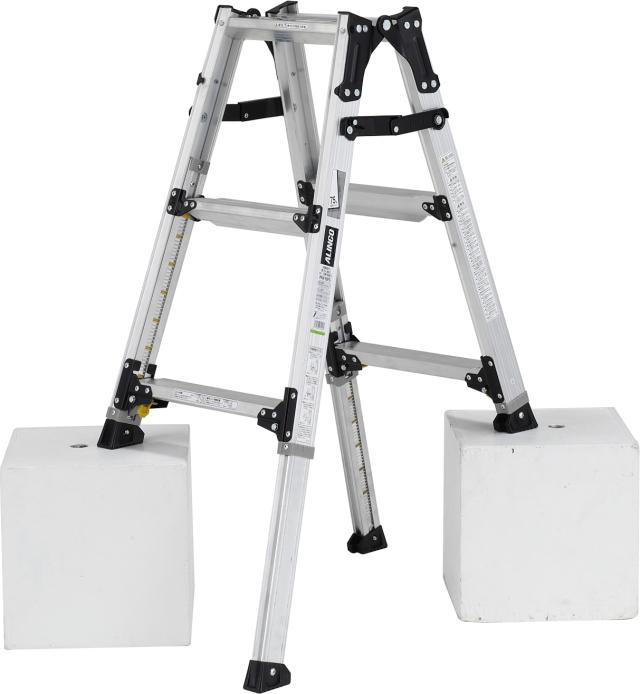 アルインコ(ALINCO)  伸縮脚付はしご兼用脚立 PRW-90FX (伸縮脚303mmタイプ)