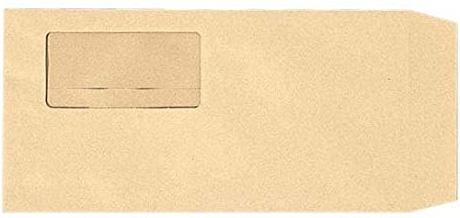 社名入り封筒 長3  クラフト 70g 窓有 テープ付 5000枚