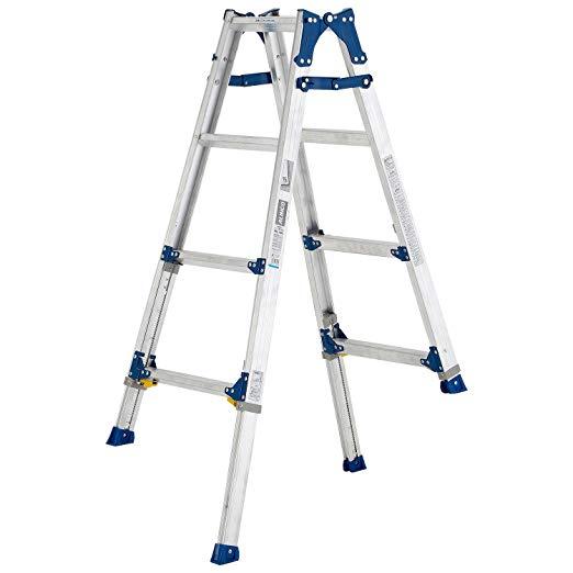 伸縮足付はしご兼用脚立PRE120FX