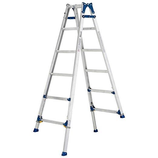伸縮足付はしご兼用脚立PRE180FX
