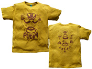 hinolismo-ブラジルプヂンTシャツ-あの濃厚で甘い幸せのリングを作りたい-半袖マスタード