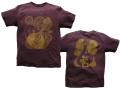 hinolismo-BANDOLIM(バンドリン)Tシャツ-半袖ボルドー-ブラジルと日本をTシャツでデザインするお店ヒノリズモ