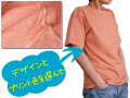 hinolismo-迷えるTシャツ半袖オレンジにプリント-Good Onグッドオン使用