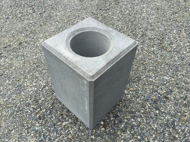 基礎ブロック 350角×H500  丸穴  95kg 【送料込】