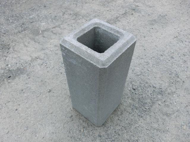 フェンス基礎ブロック 250角×H450  38kg 【送料込】