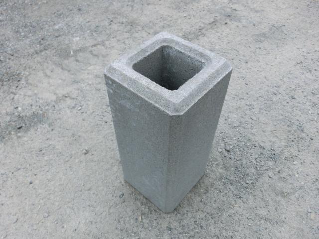 フェンス基礎ブロック 300角×H300  37kg 【送料込】