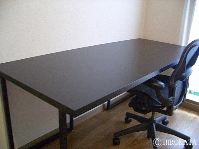 壁コーナー設置パソコンデスク黒
