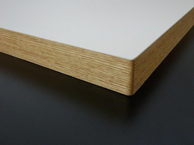 メラミン化粧板と天然無垢材で作るテーブル天板、カウンター
