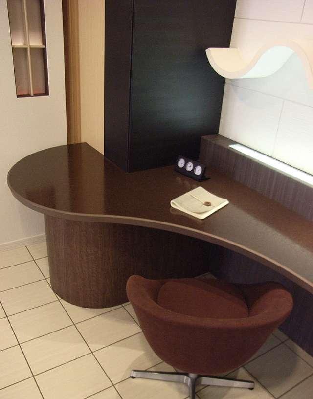 エッジ樹脂メラミン化粧板カウンターテーブル