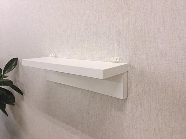 洗面所の壁に付ける洗剤を載せる棚