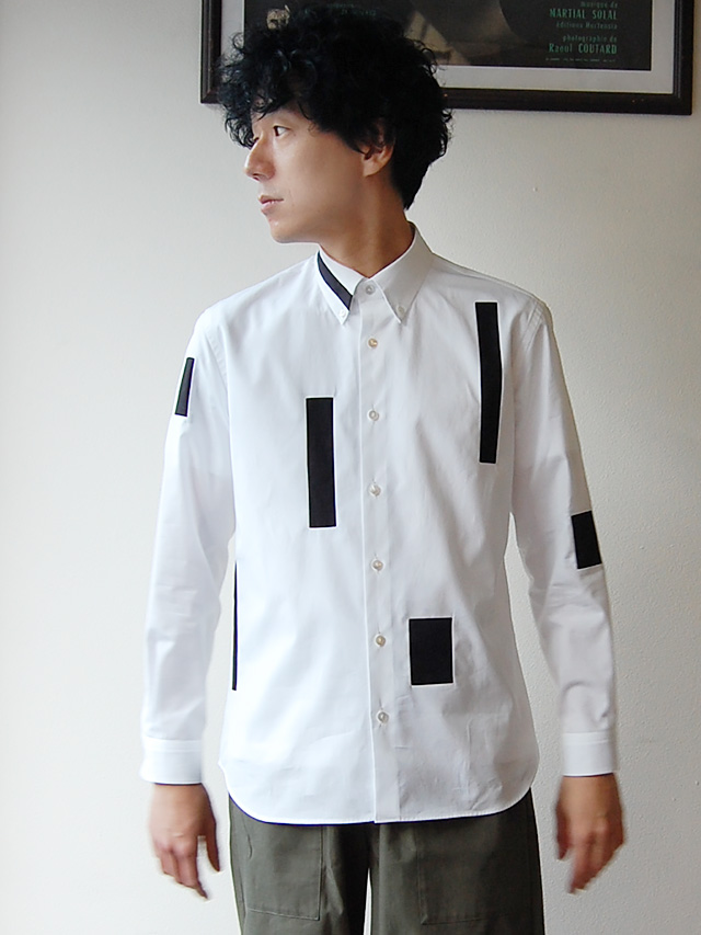 100/2ブロード スクエアシャツ