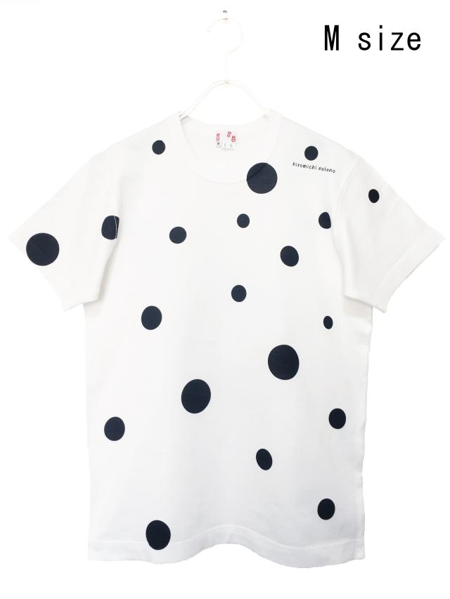 水玉、Tシャツ、半袖、モノトーン、プリント