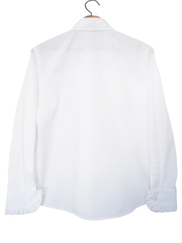 レディス、シャツ、ユニオンジャック、フリル、ボタンダウン
