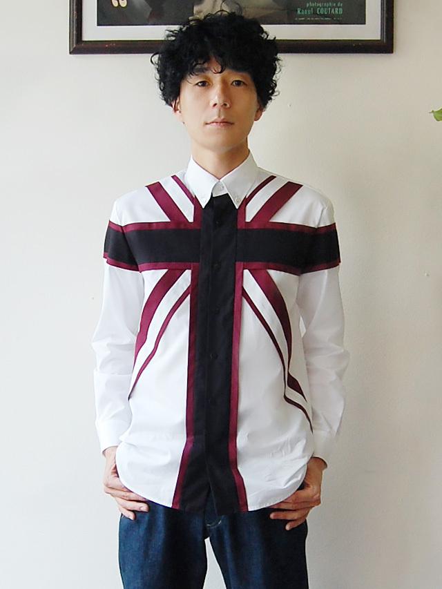 100/2ブロード ユニオンジャックシャツ