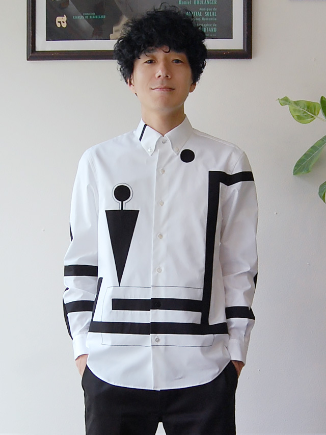 100/2ブロード モチーフシャツ