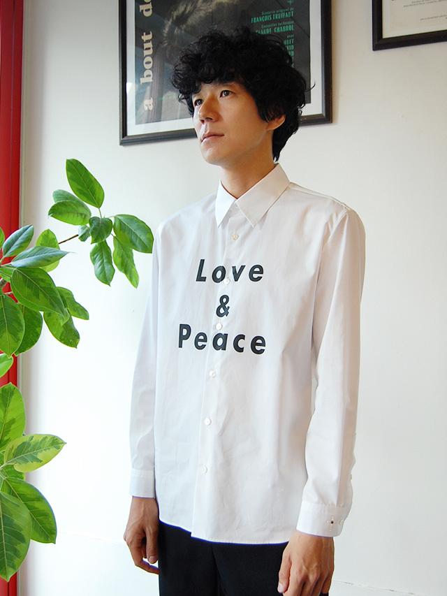 100/2ブロード ロゴプリントシャツ