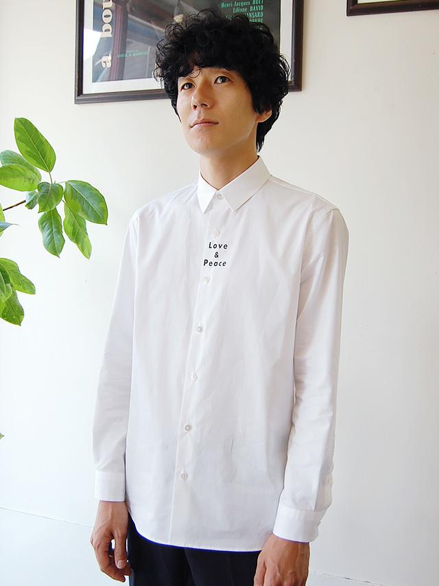 100/2ブロード LOVE&PIACEプリントシャツ
