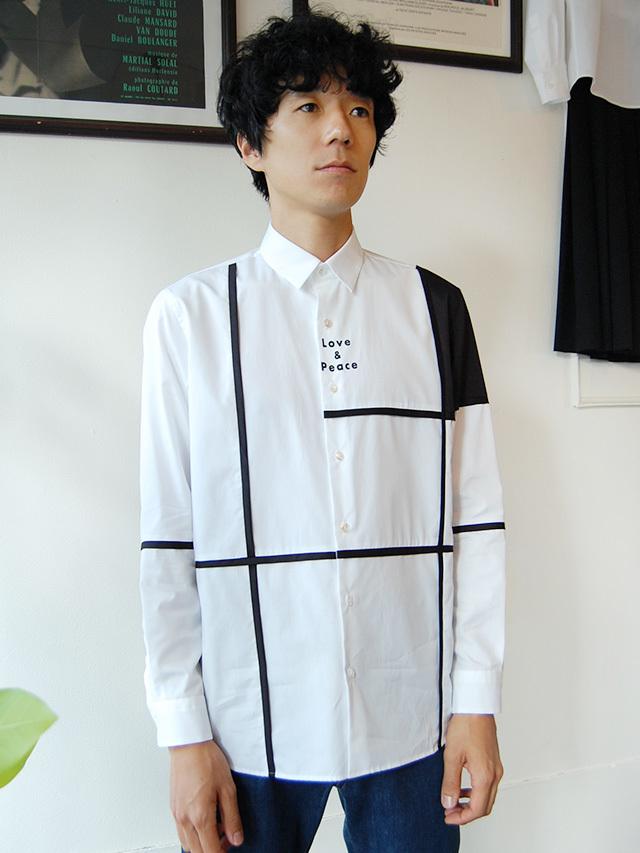 100/2ブロード ブロッキングシャツ