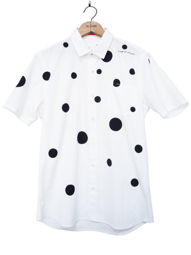 シャツ、プリント、半袖、ユニセックス、ドット