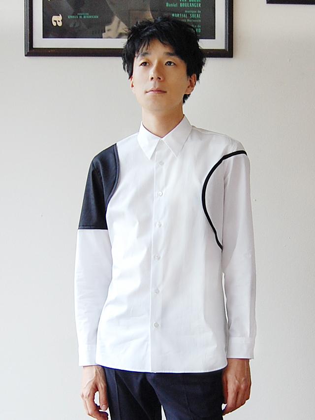 100/2ブロード サークル切替シャツ