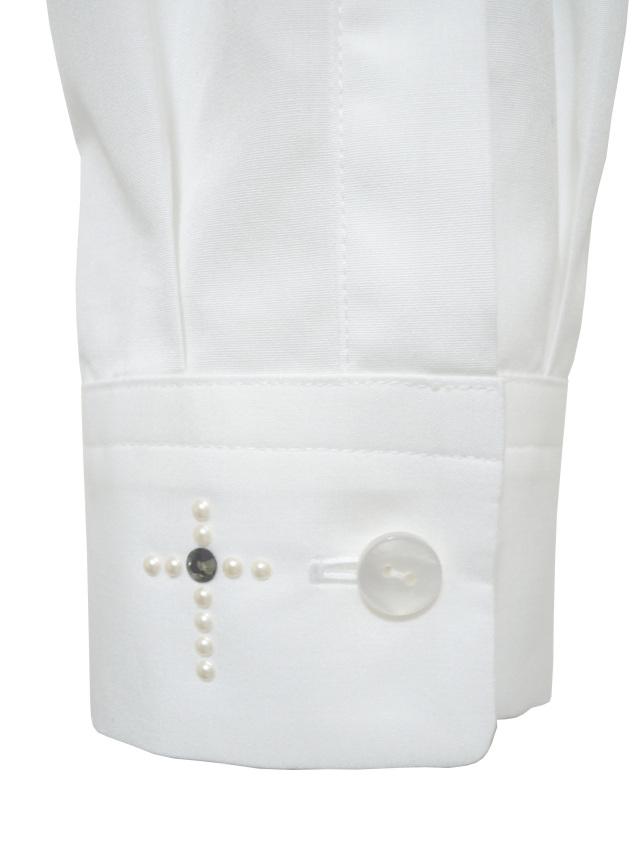 ブロード,綿,メンズシャツ,ラインストーン,クロス