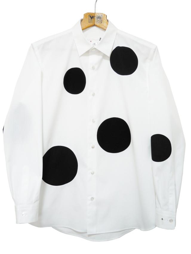 ウール,綿,メンズシャツ,水玉,ドット