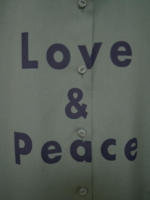 レディス、シャツ、ブロード、プリント、メッセージ