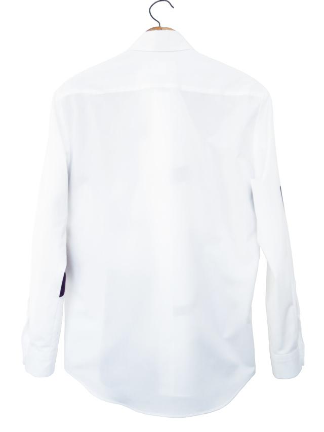 メンズ、シャツ、ブロード、パッチワーク、長袖