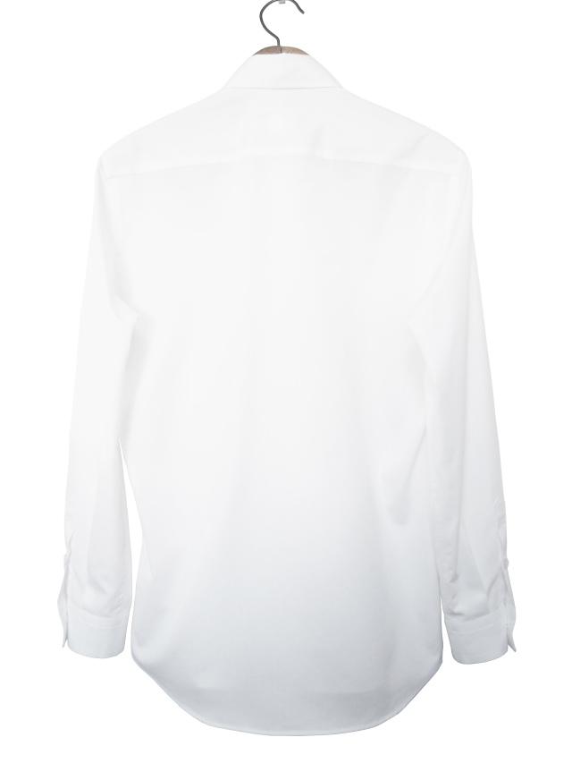 ユニセックス、シャツ、ブロード、無地、長袖