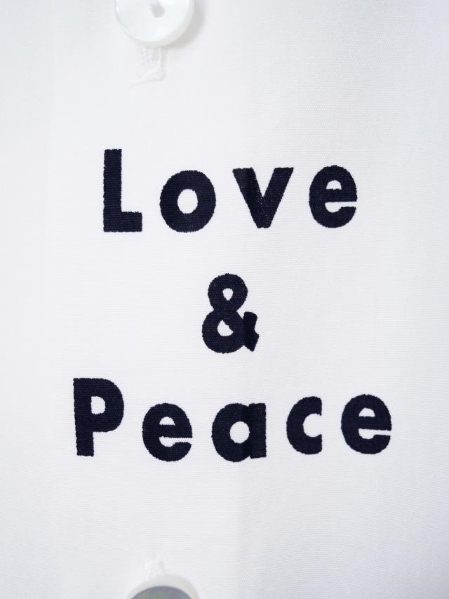 ロゴ、シャツ、ブロード、プリント、長袖