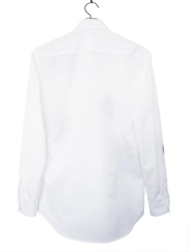 ドット、シャツ、ブロード、水玉、長袖