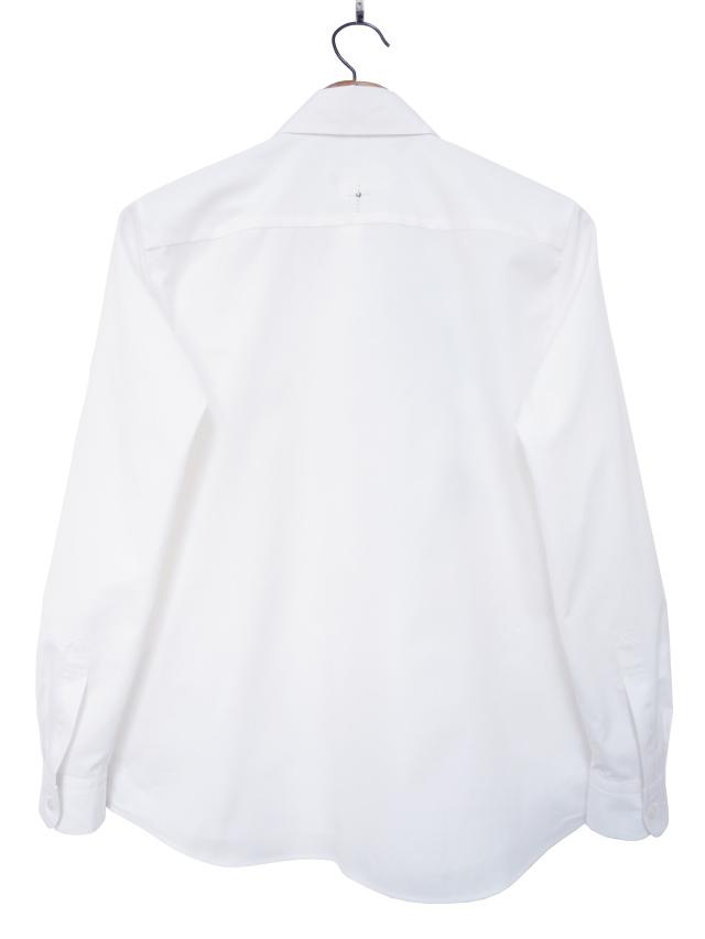 レディスシャツ、プリント、長袖、ブロード、比翼