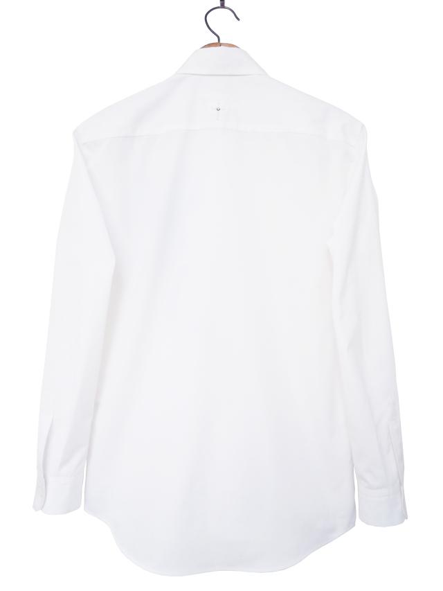 メンズシャツ、プリント、長袖、ブロード、比翼