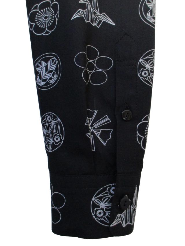 プリント、家紋、オリジナル、長袖、シャツ