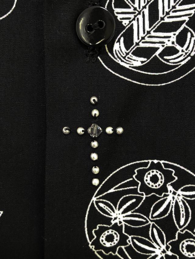 プリント、家紋、クロス、刺繍、シャツ