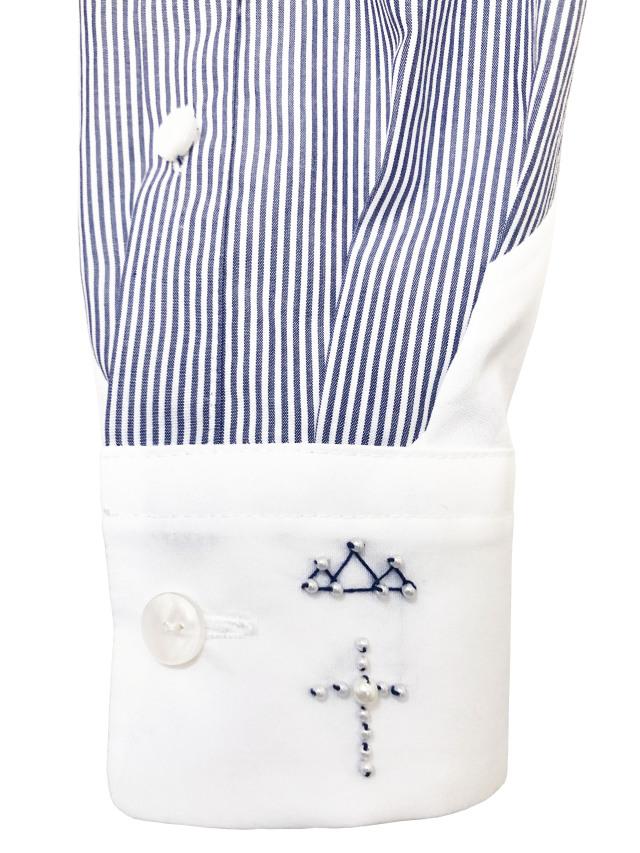 シャツ、ブロード、パッチワーク、レディス、刺繍