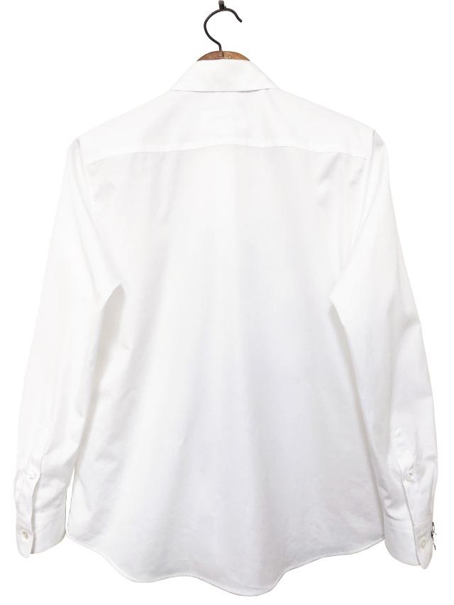 シャツ、ブロード、刺繍、レディス、サックス