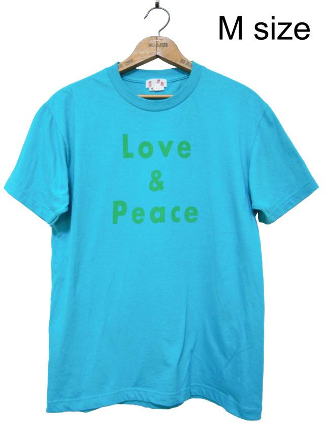 Tシャツ、プリント、半袖、ユニセックス、ターコイズ