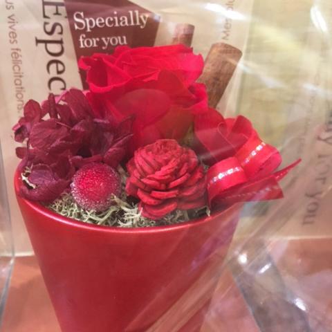 【枯れない花】ブリザーブドフラワー(赤)