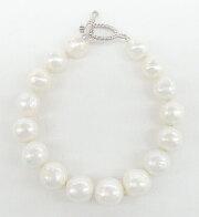 オーロラリップル真珠 バロックシェイプ ブレスレット