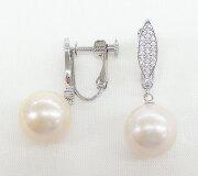 オーロラリップル真珠&CZ スイングイヤリング/ピアス